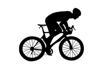 スポーツバイクに乗る人