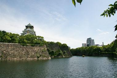 大阪城と外堀