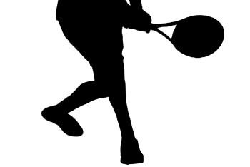 テニスプレーヤーのシルエット